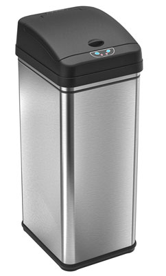 1. iTouchless 49 Liter/ 13 Gallon Touchless Trash Can