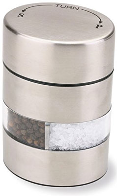 6. Olde Thompson 2-in-1 Combo Stainless Steel Salt and Pepper
