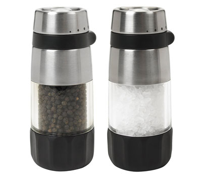 10. OXO Salt and Pepper Grinder Set