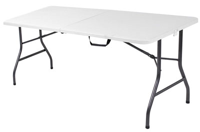 3. Cosco 6-Feet White Specked Pewter Folding Table