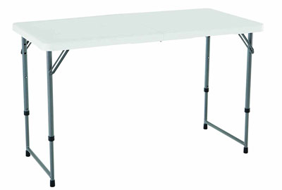 1. Lifetime 4428 White Granite Folding Utility Table