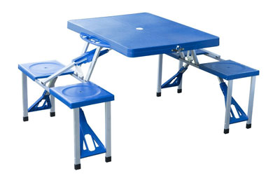 2. Outsunny Folding Picnic Table w/4 Seats