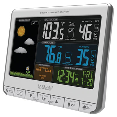 7. La Crosse Technology 308-1412S Color Wireless Weather Station