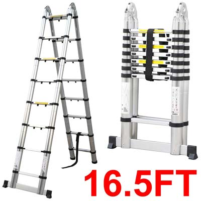 2. Easyfashion Telescopic Extension Ladder
