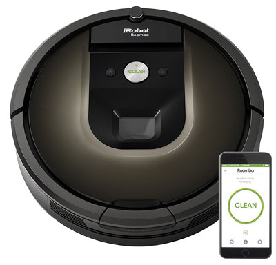 10. iRobot Roomba 980 Robotic Vacuum Cleaner