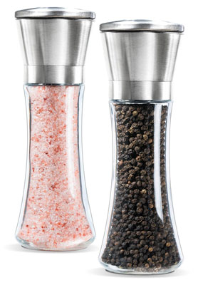 1. Levav Inc. Stainless Steel Salt and Pepper Grinder Set