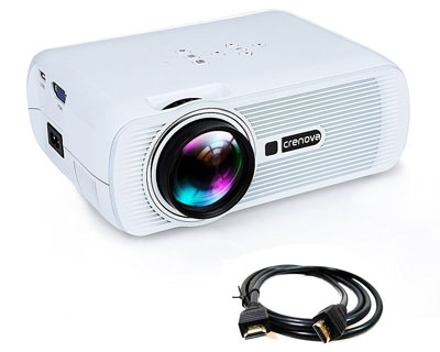 6. Crenova LED Video Home Projector (XPE460)