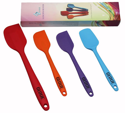 5. Gloue 4-Piece Multicolor Spatula Set