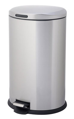 8. Home Zone 40-Liter Oval Step Can
