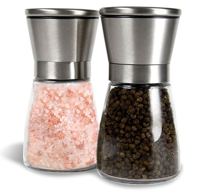 3. GM Kitchen Stainless Steel Salt & Pepper Grinder Set