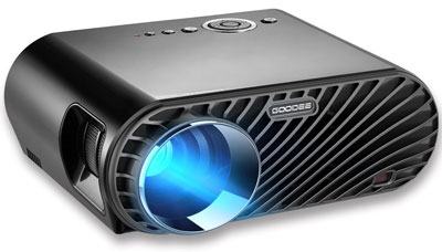 8. GooDee 3200 Luminous Home Theater Projector