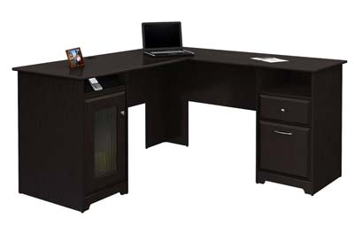 2. Bush Furniture Cabot Collection L-Desk