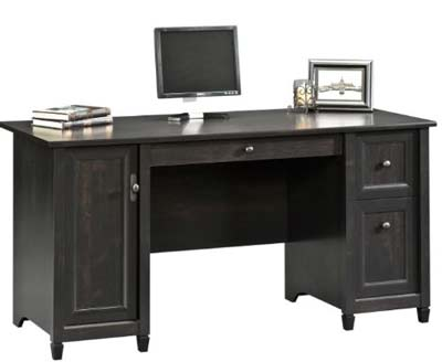 1. Sauder Computer Desk (Estate Black)