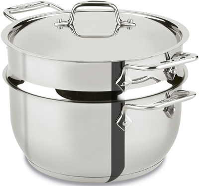 10. All-Clad E414S564 Steamer Cookware