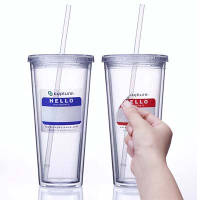 7. Cupture Tumbler Cup – 24 oz, 2 Pack (Clear)