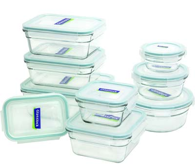 4. Glasslock 18-piece Container Set