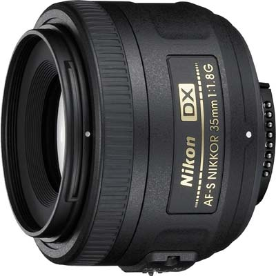 8. Nikon 35mm AF-S DX Lens (Certified Refurbished)