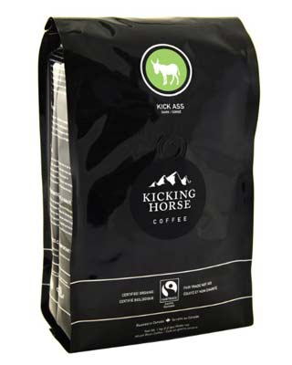 2. Kicking Horse Whole Bean Coffee (Kick Ass Dark Roast)
