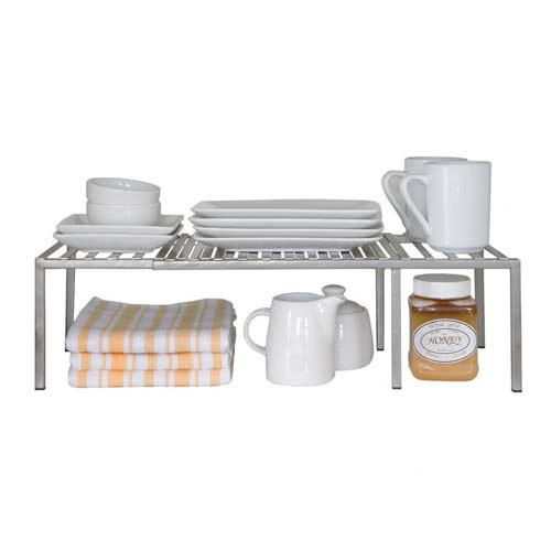 3. Seville Classics Kitchen Counter and Cabinet Shelf