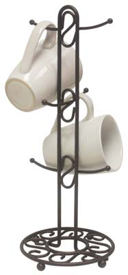 1. Home Basics Scroll Collection Mug Tree