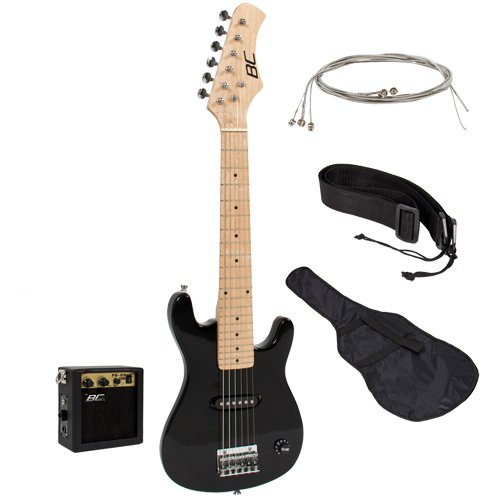 "1. New 30"" Kids Black Electric Guitar"