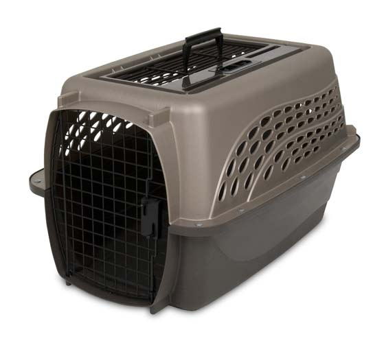2. Petmate Two Door Top Load Pet Kennel (Metallic Pearl Tan/Coffee Grounds)