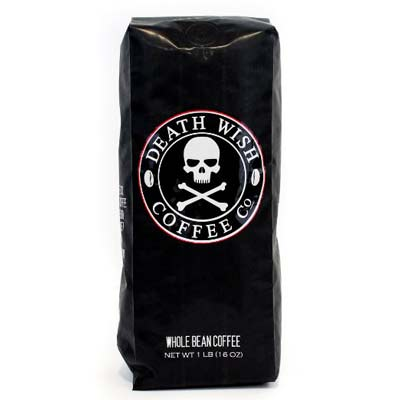 3. Death Wish Whole Bean Coffee