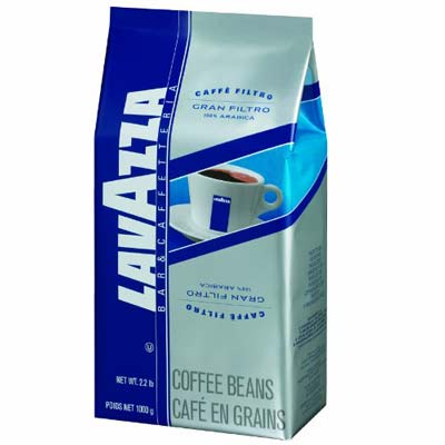 4. Lavazza Gran Filtro Whole Bean Coffee