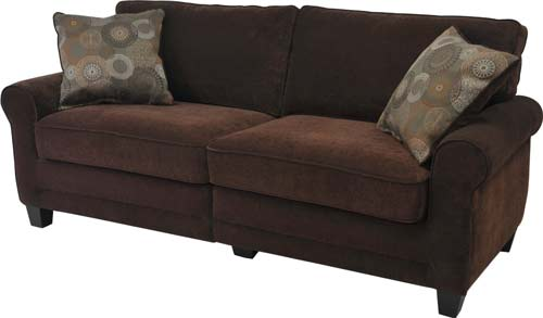 "3. Serta RTA Copenhagen Collection 73"" Fabric Sofa"