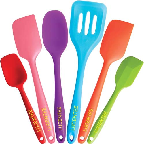 4. Lucentee 6-Piece Silicone Baking Set