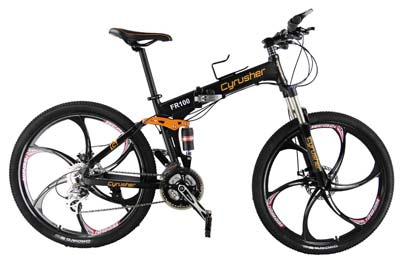 4. New Updated Cyrusher Folding Mens Mountain Bike Bicycle