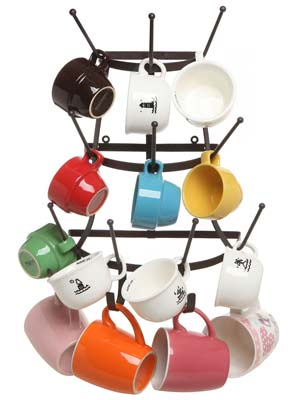 5. MyGift Bottle & Mug Storage Organizer Tree Drying Rack