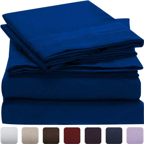 6. Mellani Bed Sheet Set (Queen Imperial Blue)