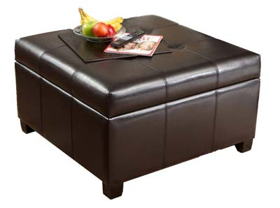 1. Best Selling Leather Storage Ottoman