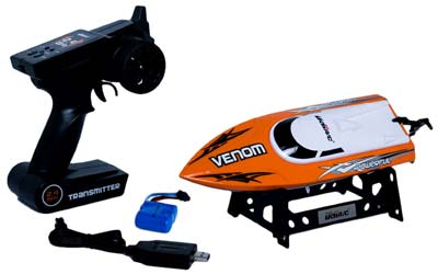 1. Udirc Venom RC Electric Boat (Orange)