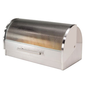 2. Oggi Stainless Steel Roll Top Bread Box