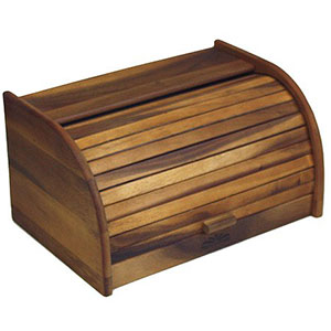 6. Mountain Woods Large Acacia Wood Bread Box