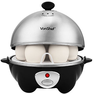 4. VonShef Stainless Steel 7-Egg Electric Cooker