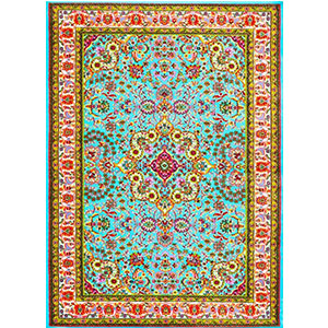 4. Persian Area Rugs 10015 Blue 7'10x10'6 Area Rug