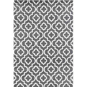10. Persian Area Rugs 3028, 5'2by7'2 Dark Gray Moroccan Trellis Rug
