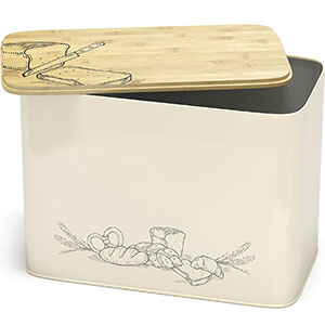 8. Cooler Kitchen Space Saving Large Vertical Bread Box
