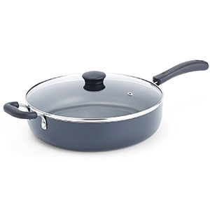 5. T-fal Black 5-Quart Jumbo Cooker Saute Pan