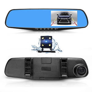 2. Oxygentle Rear View Mirror Backup Camera