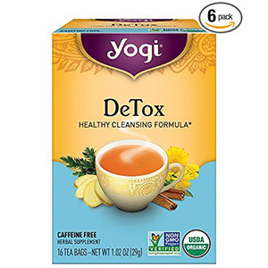 2. YOGI 16 Count Detox Tea (Pack of 6)