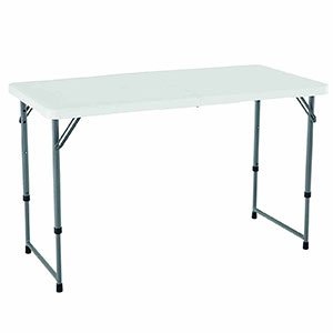 1. Lifetime White Granite Folding Utility Table