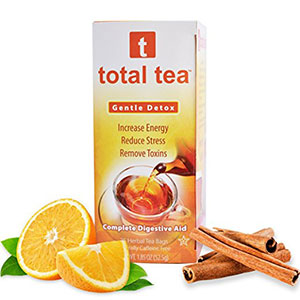 3. Total Tea Gentle Detox Herbal Tea Supplement (25 Sealed Teabags)