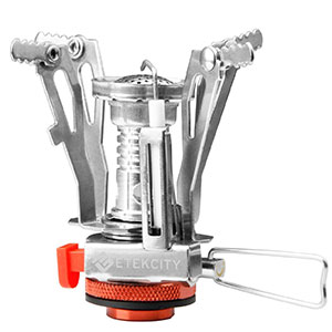 1. Eteckcity Orange Portable Camping Stoves with Piezo Ignition