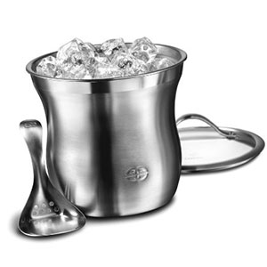 4. Calphalon Stainless Steel Ice Bucket Set