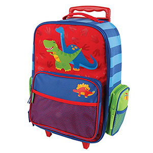 2. Stephen Joseph Red Dino Classic Rolling Luggage