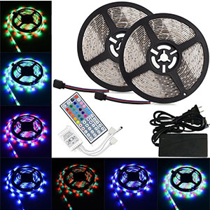 9. LTROP 12V 32.8ft LED Strip Light Kit
